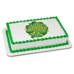 Large Shamrock PhotoCake® Image