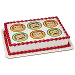 Curious George Big Smiles Photocake® Image