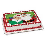 Mr. and Mrs. Claus Photocake® Image