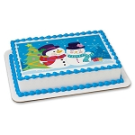 Mr. and Mrs. Snowman Photocake® Image