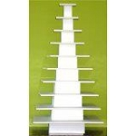 Square 10 Tier Cupcake Tower