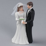 White Bridal Cake Topper