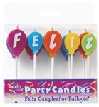 Feliz Cumpleanos Balloon Candles