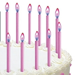 Pink Color Flame Candles