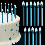 Blue Color Flame Candles