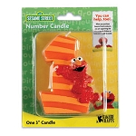 "Elmo Number ""1"" Candle"