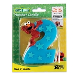 "Elmo Number ""2"" Candle"