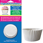 White Jumbo Baking Cups (24 cups)