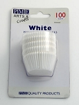 White Mini Baking Cases (100 cups)