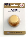 Gold Mini Foil Baking Cases (45 cups)