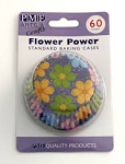 Flower Power Standard Baking Cases (60 cups)