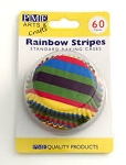 Rainbow Stripes Standard Baking Cases (60 cups)