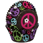 Peace Sign Baking Cups