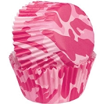 Pink Camo Baking Cups
