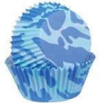 Blue Camo Baking Cups