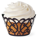 Black Swirls Cupcake Wrap(18 Count)