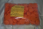 Guittard Orange Flavored Colored Chocolate 1 lbs.