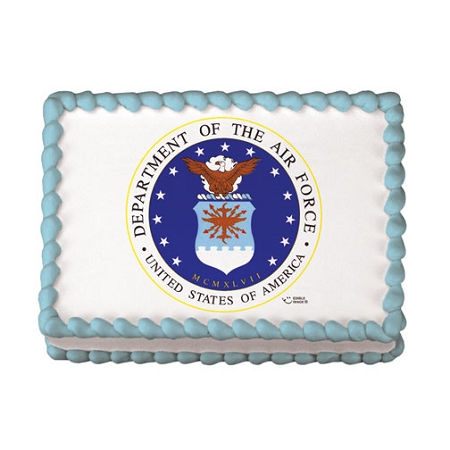 Edible Cake Images Air Force : US Air Force Logo Edible Image  Design