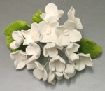 Hydrangea Bunch White Flowers 1set