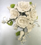 Assorted Garden Rose Spray White