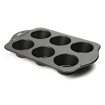 NONSTICK GIANT MUFFIN PAN, 6 COUNT