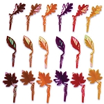 Iridescent Fall Leaves Pick
