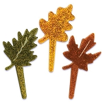 Glitter Fall Leaves Pick