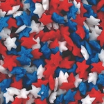 Red, White and Blue Star Confetti Quins 2oz.