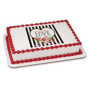 All You Need Is Love PhotoCake® Image