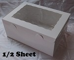 14x19x6 (Half Sheet) White Window Box