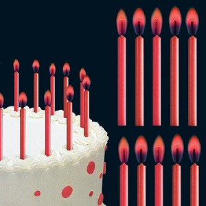 Red Color Flame Candles