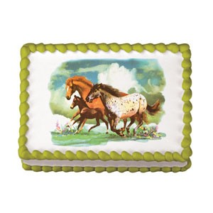 Edible Cake Images Horses : Wild Horses Edible Image  Design