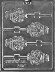 Skull Chocolate Lolly Mold