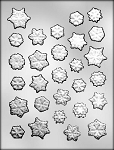 SNOWFLAKES FROM INDIANA CHOCOLATE MOLD