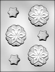 LARGE AND SMALL SNOWFLAKES CHOCOLATE MOLD