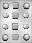 ROUND, SQUARE & SHELL SHAPES CHOCOLATE MOLD