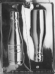 Small 3D Champagne Bottle Chocolate Mold