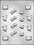 GRADUATION ASSORTMENT CHOCOLATE MOLD