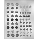 Buttons Assortment Chocolate Mold