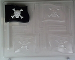 PIRATE FLAG SUCKER CHOCOLATE MOLD