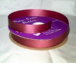 Burgundy Floral Satin Ribbon 100 yds.