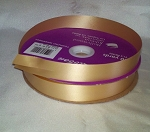 Gold Floral Satin Ribbon 100 yds.