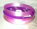Hot Pink Floral Satin Ribbon 100 yds.