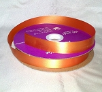 Orange Floral Satin Ribbon 100 yds.