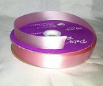 Pink Floral Satin Ribbon 100 yds.