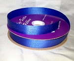 Royal Blue Floral Satin Ribbon 100 yds.