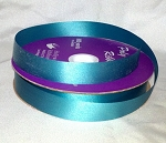 Teal Floral Satin Ribbon 100 yds.