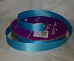 Turquoise Floral Satin Ribbon 100 yds.
