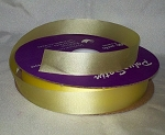 Yellow Floral Satin Ribbon 100 yds.