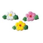 Leafed Flower Charms Assortment Dec-Ons® (24 pieces)